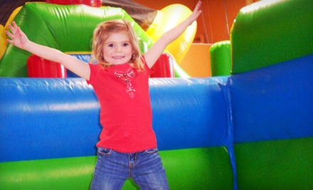 5 or 10 Open-Play Sessions at Kangaroo Kids Inflatable Party Center (Up to 71% Off)