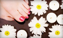 Spa or Shellac Manicures and Pedicures at Brows 2 Lashes (Up to 54% Off). Three Options Available.