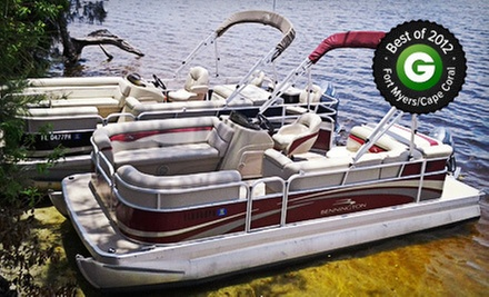 Full-Day Pontoon Rental for 6 or 9 at Oasis Yacht Club and Boat Rentals (Up to 51% Off)