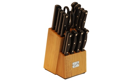 Emeril 18-Piece Stainless Steel Cutlery Block