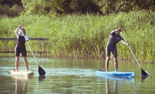 $79 for Three-Hour Guided Paddleboard Tour with On-Shore Lesson, Wine, and Oysters at Napa Valley Paddle ($194 Value) 