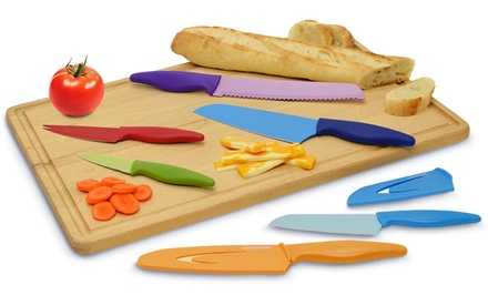 6-Piece Color-Coded Knife Set