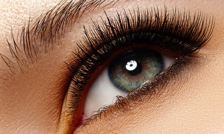 Full Set of Synthetic or Silk Eyelash Extensions with Optional Refill at The Lash Attic (Up to 51% Off)