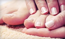 Spa Mani-Pedi with Optional Massage, or Spa Pedicure with Massage and Facial at Rhythm Spa (Up to 61% Off)