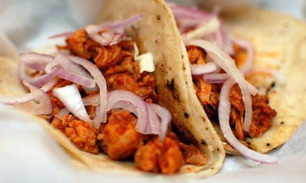 Gourmet Tacos at La Santisima Gourmet Taco Shop (Up to 47% Off). Two Options Available.