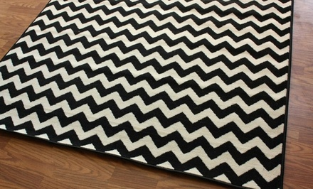 nuLOOM Black and Ivory Chevron Rug. Multiple Sizes from $36.99–$79.99. Free Returns.