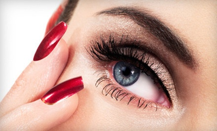 Eyelash Extensions or Shellac Manicure at Liazon Nail, Lash & Make-up Studio at Amp Salon (Up to 51% Off)