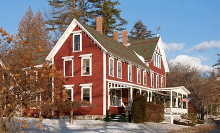 groupon daily deal - 2- or 3-Night Stay for Two with Dining Credit & Optional Lift Tickets at The Lake House at Ferry Point in Sanbornton, NH