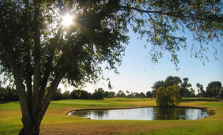 $18 for 18 Holes of Golf with Range Balls and Bottle of Water at Peoria Pines Golf &amp; Restaurant (Up to $37.31 Value)