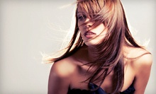 Haircut Package with Blow-Dry Style and Optional Partial or Full Highlights at The Hairs Inn Salon (Up to 65% Off)