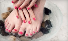 Two Shellac Manicures or One Shellac Manicure and Shellac Spa Pedicure at Kali's Kreative Nails (Up to 65% Off)