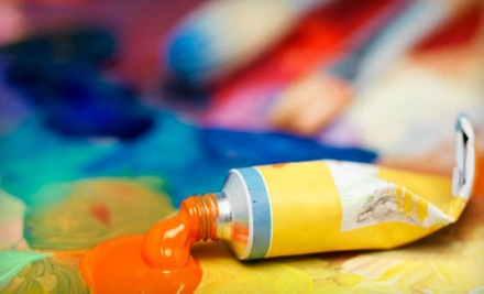 Three-Hour Wine-and-Painting Evening for One, Two, or Four at The Art Loft (Up to 62% Off)