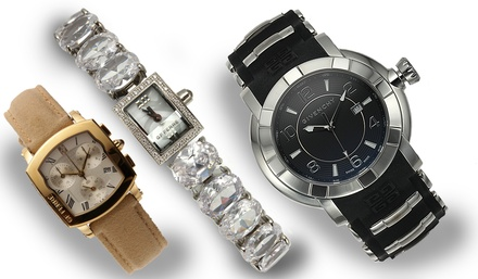 Givenchy & GF Ferre Men's and Women's Swiss Watches from $59.99–$99.99