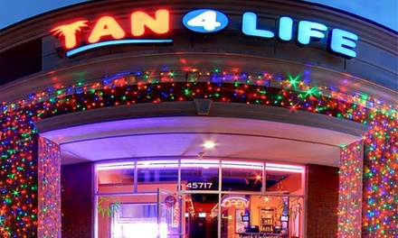 Spray-Tanning or High-Pressure Bed-Tanning Packages at Tan 4 Life (Up to 68% Off). Three Options Available.