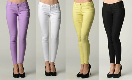 Women's Slim-Fit Pants in Assorted Colors. Multiple Options Available. Free Returns.