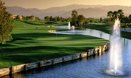 groupon daily deal - Golf for Two at the Pete Dye Resort or Gary Player Signature Course with Room at Golf Resort & Spa in Rancho Mirage, CA