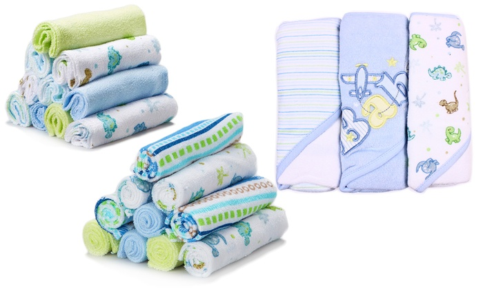Baby Gift Bath Sets : Spasilk piece baby bath gift set groupon