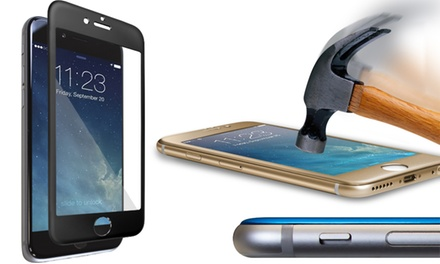 MogoLife Full-Coverage Curved Aluminum Alloy Tempered-Glass Screen Protector for Apple iPhone 6