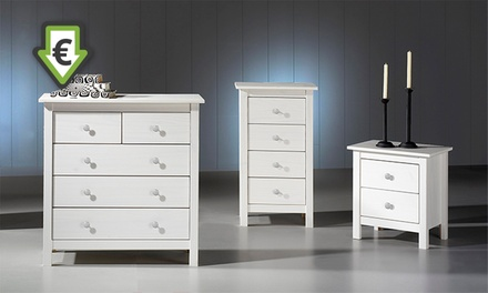 Mesa de cabeceira, cómoda alta ou cómoda disponíveis em 2 modelos desde 39,90 € (até 66% de desconto) com envio gratuito