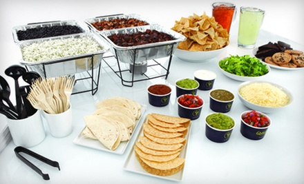 $89 for a Catered Mexican Meal for Up to 20 from Qdoba Mexican Grill (Up to $190 Value)