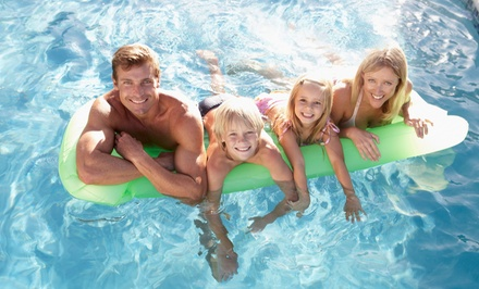 Swimming Package for Two or Four with Admission to The Aquarena and Waterslides at The Works (Up to 51% Off)