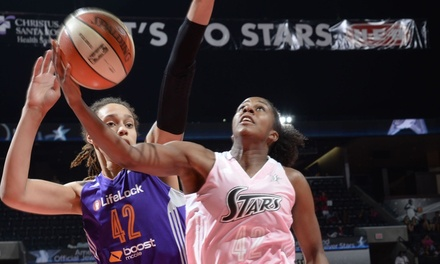San Antonio Stars WNBA Game at AT&T Center on August 1 or 15 (Up to 68% Off). Three Seating Options Available.
