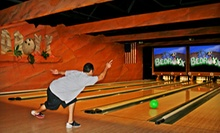 $29 for a Two-Hour Bowling Package for Five with Pizza and Arcade Games at Bedroxx Bowling (Up to $76.75 Total Value)