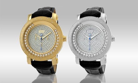 JBW Hendrix Men's Diamond Watch with Floating Diamonds