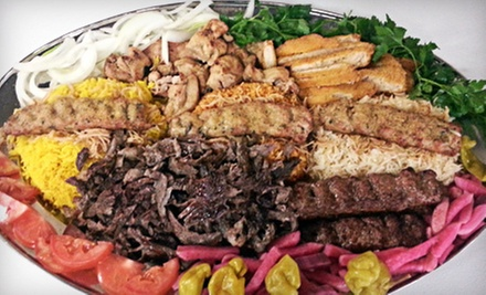 Mediterranean Food and Drinks at Ali Baba Family Restaurant (Up to Half Off). Two Options Available.