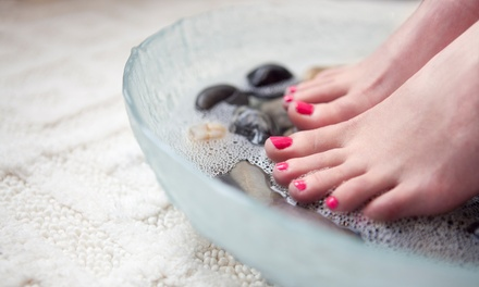 Spa Pedicure with Sea Salt Soak or Shellac Manicure at Simply Nails and Spa (Up to 40% Off)