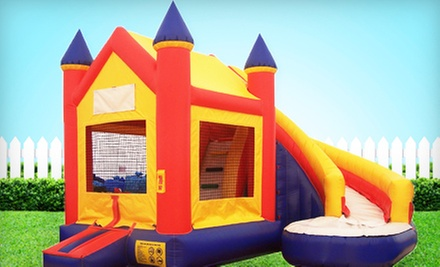 $124 for 10-Hour Bounce House and Slide Combo Rental from Bouncin Bins (Up to $256 Value)