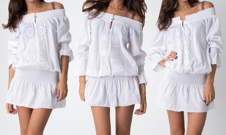 Embroidered Swim Cover-Up