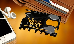 Wallet Ninja Credit-card-sized 18-in-1 Multitool