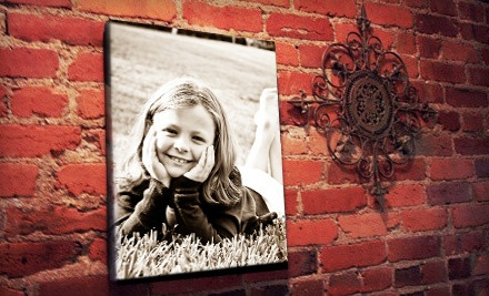 "groupon daily deal - 16""x20"" Canvas Photo Print or 18""x24"" Custom Wall Decal from Pics to Posters (Up to 51% Off)"