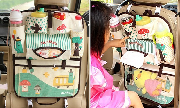 kids 39 back seat car organiser groupon goods. Black Bedroom Furniture Sets. Home Design Ideas