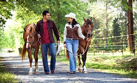 1.5-Hour Guided Horseback Trail Ride for Two or Four at Rancho La Rosa (Up to 57% Off)