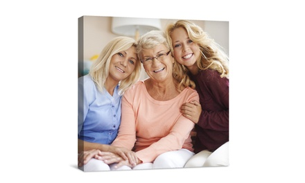"""$5 for 8""""x10"""" Canvas Portrait from Canvas People ($49.99 Value)"""
