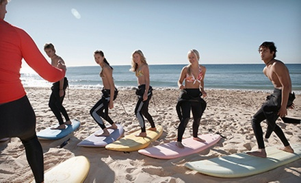 $75 for One Two-Hour Surfing Lesson for Up to Two at So What Surf ($150 Value)