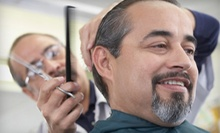 One or Three Men's Haircut Packages with Edging and a Straight-Razor Shave at Real Barber Shop (Up to 53% Off)