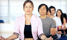 10 or 20 Drop-In Yoga Classes at Pink Elephant Yoga (Up to 57% Off)