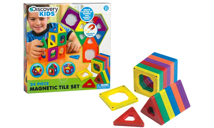 Toys Magnetic Tiles : Discovery kids toy magnetic tiles groupon