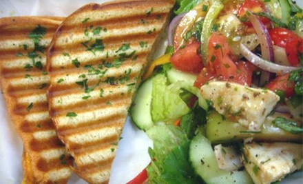 $10 for Custom Sandwiches or Salads for Two with Drinks at Caf C (Up to $21.98 Value)