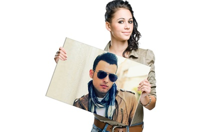 "$25 for a 20""x16"" Canvas Portrait Including Shipping from Picanova ($89 Value)"