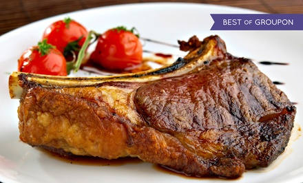 Four-Course Steak-House Dinner for Two or Four with Wine at Statler Grill (Up to 56% Off)