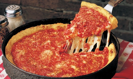 Deep-Dish or Thin-Crust Pizza for Two or Four at Gino's East (Up to 48% Off). Three Options Available.