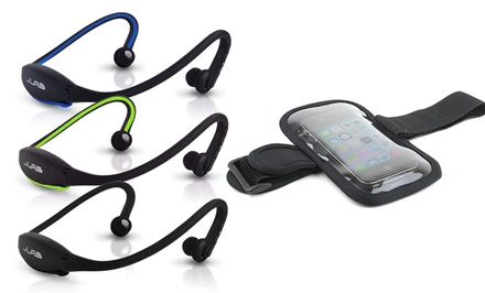 JLab GO Wireless Bluetooth Sport Headphones with Armband