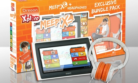 Meep! x2 Kids' Tablet Bundle with Wired Headphones. Free Returns.