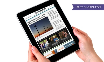 "52-Week Digital or Sunday-and-Wednesday Subscription to ""Fort Worth Star-Telegram"" (Up to 83% Off)"