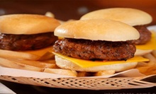 Burger Meal with Sliders, Fries, and Drinks for Two or Four at Fatso's Sports Garden (Up to 56% Off)