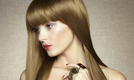 Hydrating Hair Mask with Haircut, Single-Process Color, or Partial Highlights at Hair Creations (Up to 63% Off)